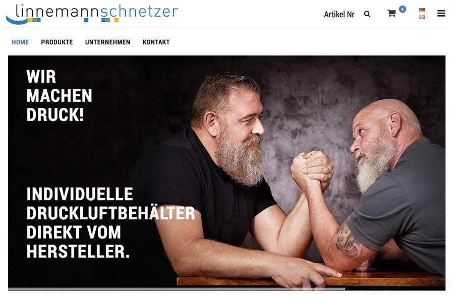 Linnemannschnetzer Webshop für Druckluftbehälter und Zubehör