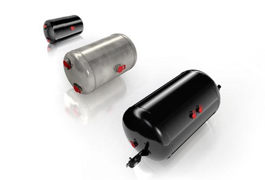 Druckluftbehaelter Stahl und Aluminium